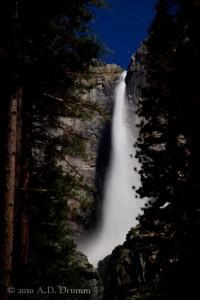 Upper Yosemite Falls by moonlight